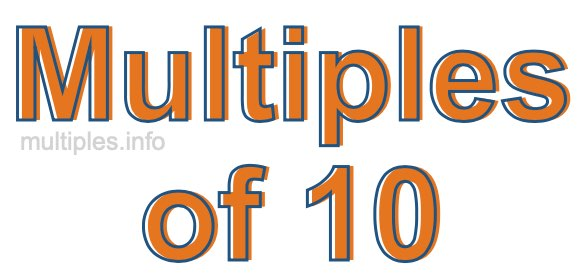 Multiples of 10