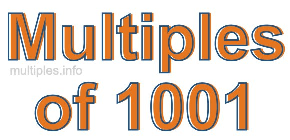 Multiples of 1001