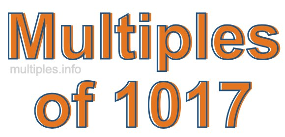Multiples of 1017