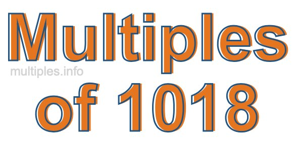 Multiples of 1018