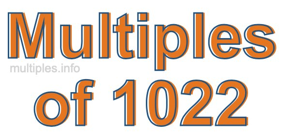 Multiples of 1022