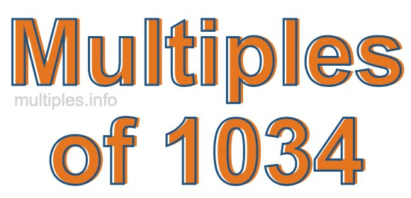 Multiples of 1034