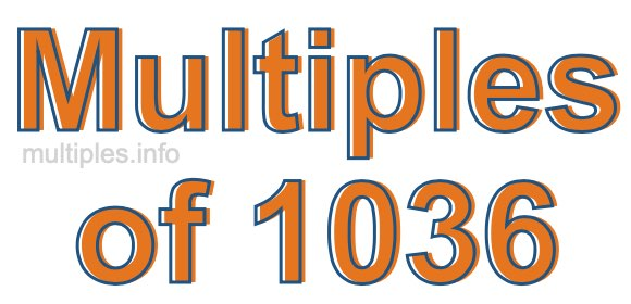 Multiples of 1036