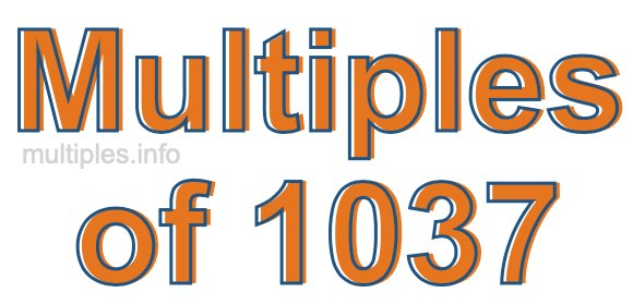 Multiples of 1037