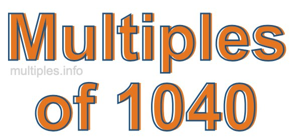 Multiples of 1040