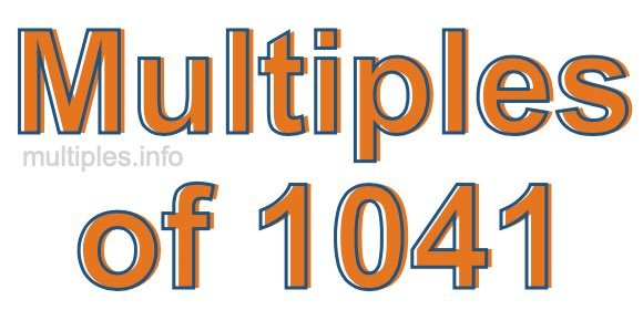 Multiples of 1041