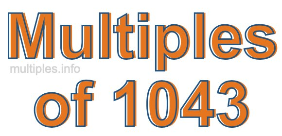 Multiples of 1043
