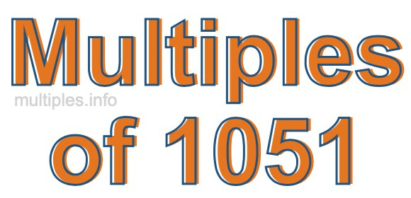 Multiples of 1051