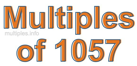 Multiples of 1057