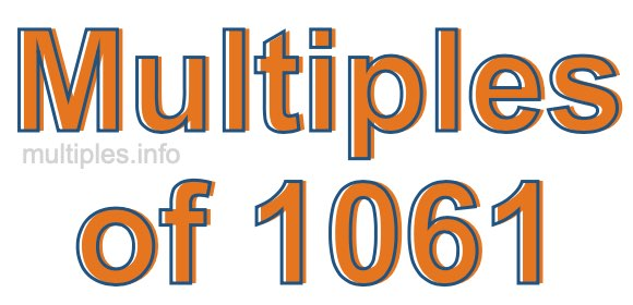 Multiples of 1061