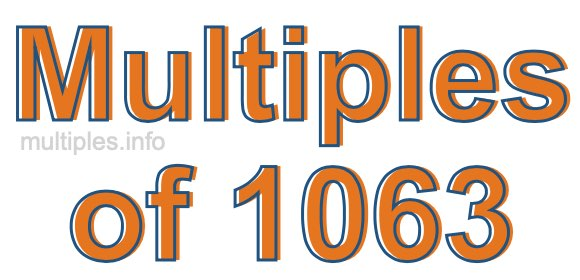 Multiples of 1063