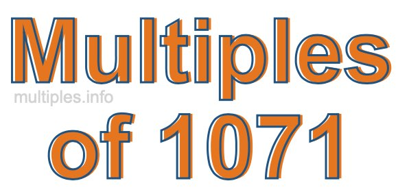 Multiples of 1071