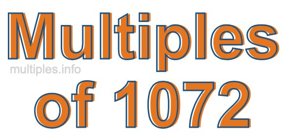 Multiples of 1072