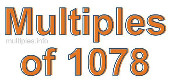 Multiples of 1078