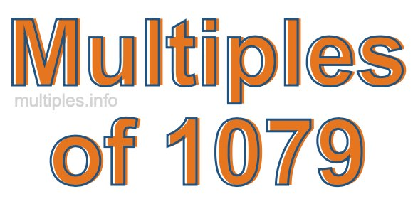 Multiples of 1079