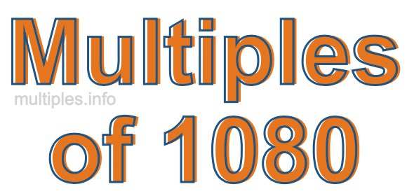 Multiples of 1080