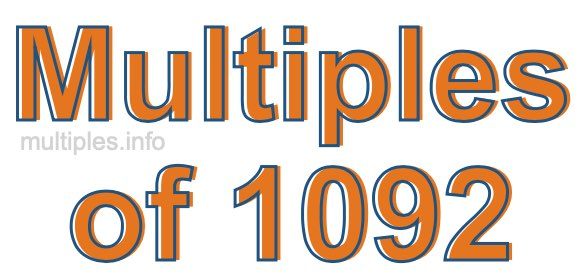 Multiples of 1092