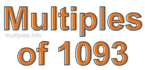 Multiples of 1093