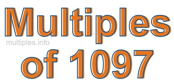 Multiples of 1097