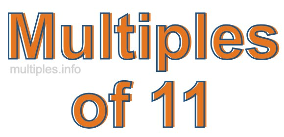 Multiples of 11