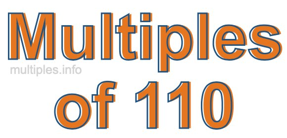Multiples of 110