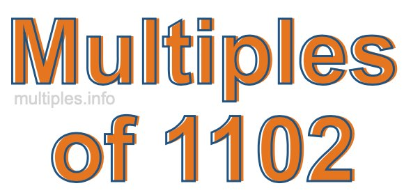 Multiples of 1102