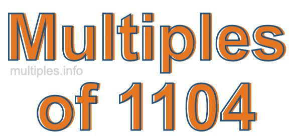 Multiples of 1104