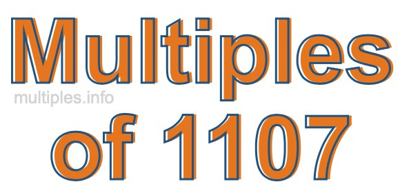 Multiples of 1107