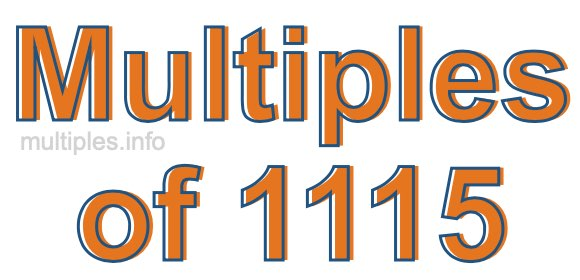 Multiples of 1115