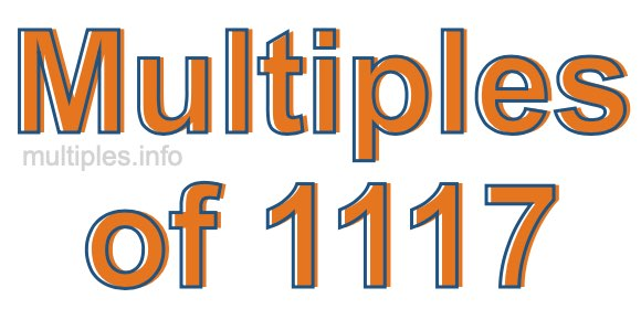 Multiples of 1117