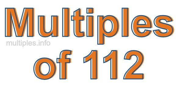 Multiples of 112