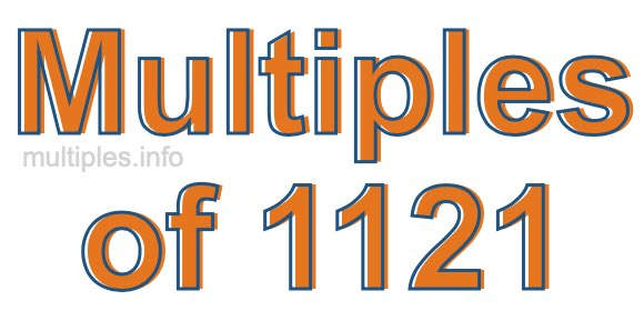 Multiples of 1121