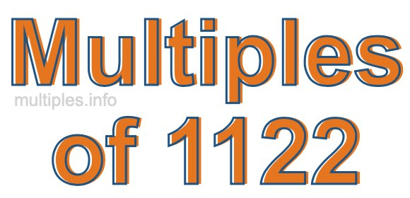 Multiples of 1122