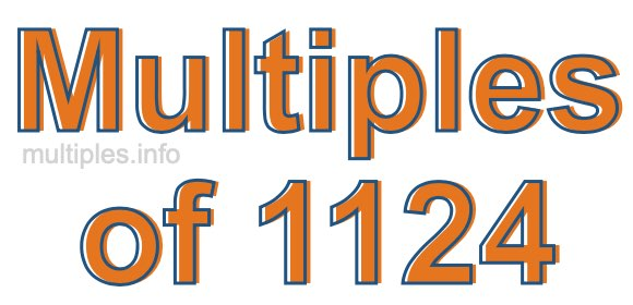 Multiples of 1124