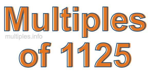 Multiples of 1125