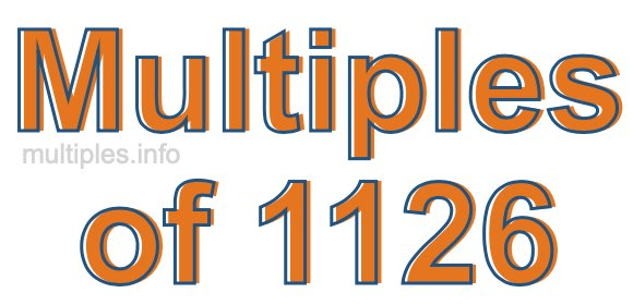 Multiples of 1126