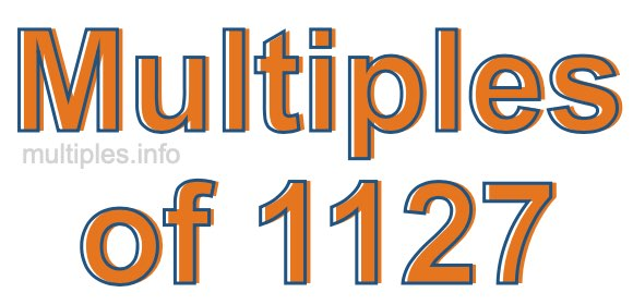 Multiples of 1127