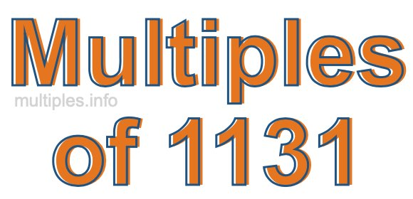 Multiples of 1131