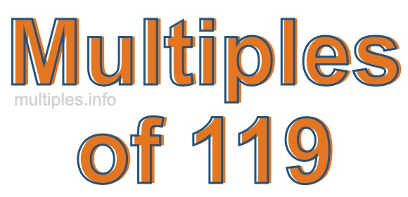 Multiples of 119
