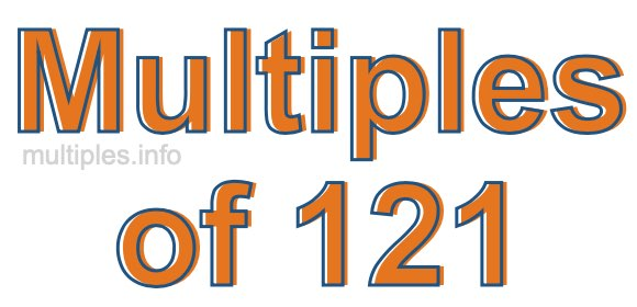Multiples of 121