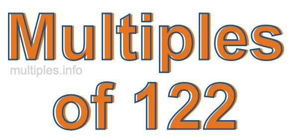 Multiples of 122