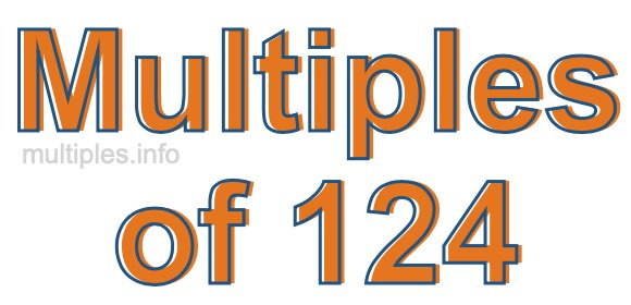 Multiples of 124