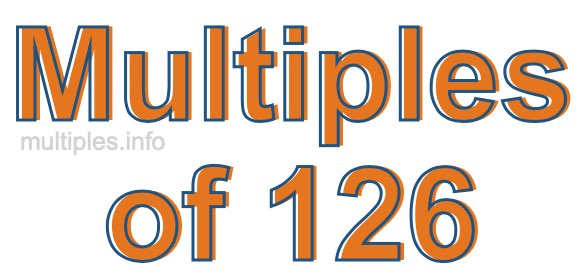 Multiples of 126