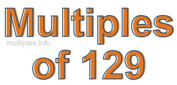 Multiples of 129