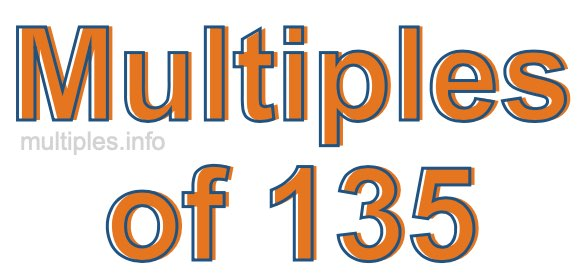 Multiples of 135