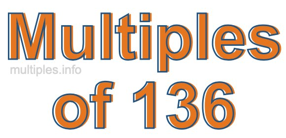 Multiples of 136