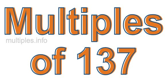 Multiples of 137