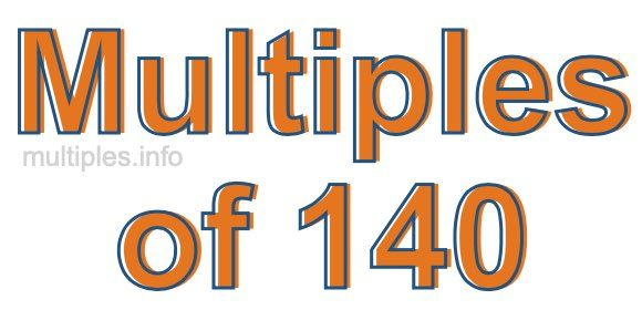 Multiples of 140