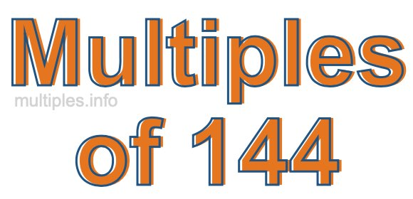Multiples of 144