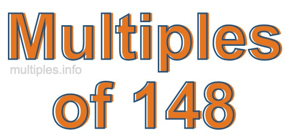 Multiples of 148